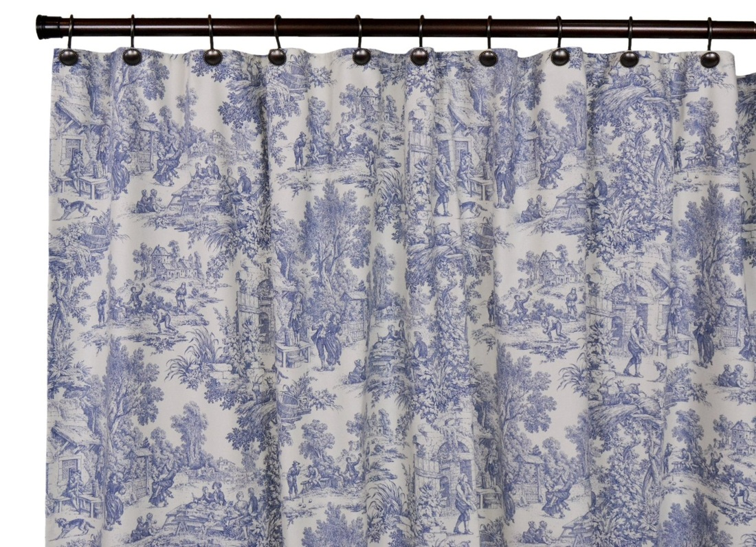 Victoria Park Toile Bathroom Shower Curtain - The Shoppers Guide