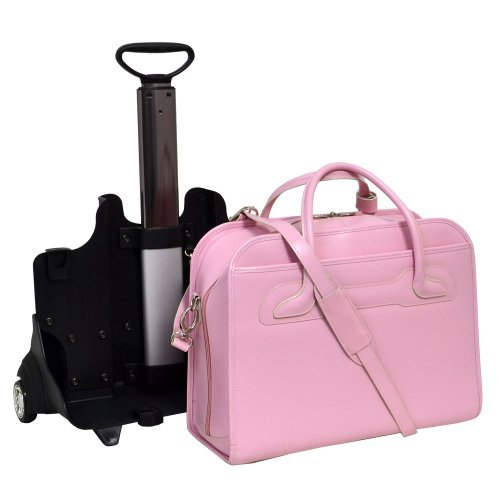 McKleinUSA WILLOWBROOK PINK Detachable-Wheeled Ladies' Briefcase