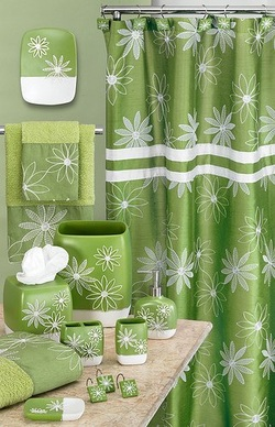 Delightful Decorating With Lime Green Shower Curtain Sets